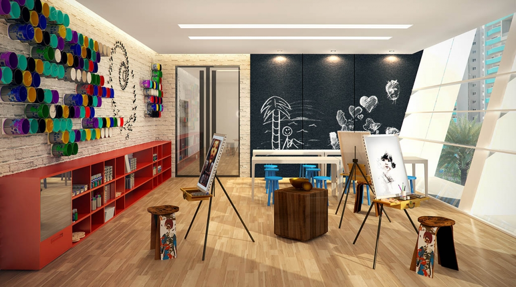 arts and crafts area at The Residences at Commonwealth by Century