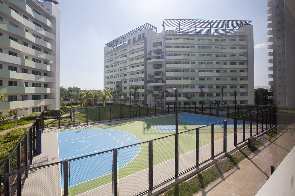 basketball court at The Residences at Commonwealth by Century